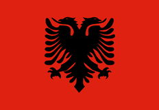 Markierungsfahne von Albanien, stock abbildung