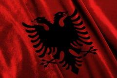 Markierungsfahne von Albanien lizenzfreie stockbilder
