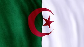 Markierungsfahne von Algerien lizenzfreie abbildung