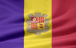 Markierungsfahne von Andorra Lizenzfreies Stockbild