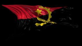 Markierungsfahne von Angola stock footage