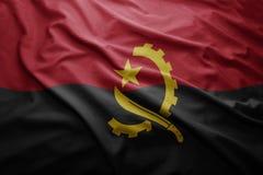Markierungsfahne von Angola Stockfotos