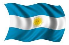 Markierungsfahne von Argentinien Stockfotos