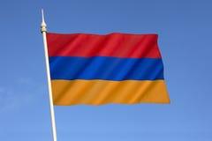 Markierungsfahne von Armenien Lizenzfreies Stockbild