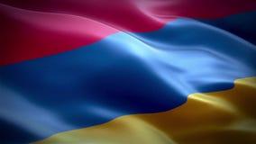 Markierungsfahne von Armenien stock video footage