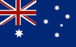 Markierungsfahne von Australien Stock Abbildung