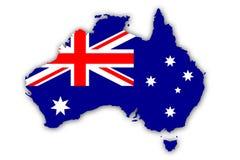 Markierungsfahne von Australien Lizenzfreies Stockfoto
