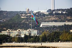 Markierungsfahne von Azerbaijan Stockfotos
