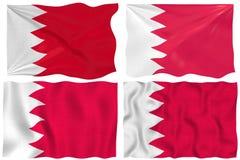 Markierungsfahne von Bahrain Stockfotografie