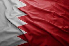 Markierungsfahne von Bahrain Lizenzfreie Stockfotografie