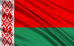 Markierungsfahne von Belarus lizenzfreies stockbild