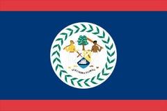 Markierungsfahne von Belize vektor abbildung