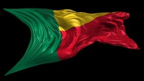 Markierungsfahne von Benin lizenzfreie abbildung