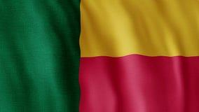 Markierungsfahne von Benin stock abbildung
