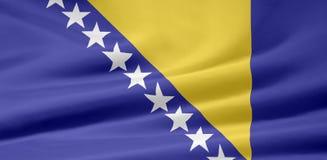 Markierungsfahne von Bosnien Herzegowina Lizenzfreie Stockfotografie