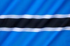 Markierungsfahne von Botswana Lizenzfreie Stockfotos