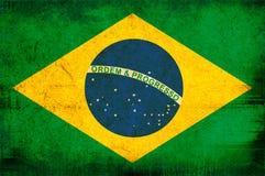 Markierungsfahne von Brasilien Lizenzfreie Stockfotos