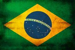 Markierungsfahne von Brasilien Lizenzfreie Stockfotografie