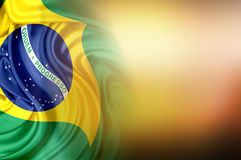 Markierungsfahne von Brasilien Stockbilder
