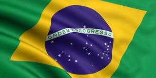 Markierungsfahne von Brasilien Lizenzfreies Stockbild