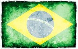Markierungsfahne von Brasilien Lizenzfreies Stockfoto