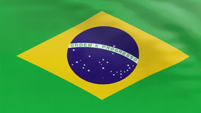 Markierungsfahne von Brasilien stock abbildung