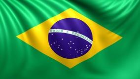 Markierungsfahne von Brasilien Nahtloses geschlungenes Video, Gesamtlänge vektor abbildung