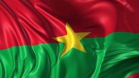 Markierungsfahne von Burkina Faso stock footage