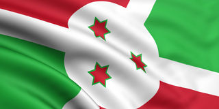 Markierungsfahne von Burundi Lizenzfreie Stockfotos