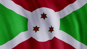 Markierungsfahne von Burundi stock abbildung