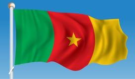 Markierungsfahne von Cameroon Stockfotografie