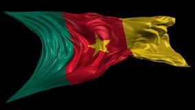 Markierungsfahne von Cameroon stock video footage
