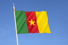 Markierungsfahne von Cameroon Stockbilder
