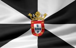 Markierungsfahne von Ceuta lizenzfreie abbildung