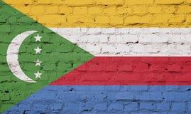 Markierungsfahne von Comoren stockfotografie