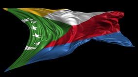 Markierungsfahne von Comoren stock video footage