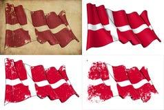 Markierungsfahne von Dänemark vektor abbildung