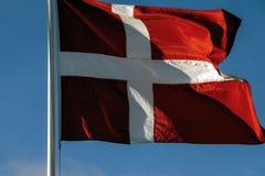 Markierungsfahne von Dänemark Stockfotos