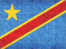 Markierungsfahne von The Democratic Republic Of The Congo Lizenzfreie Stockfotos
