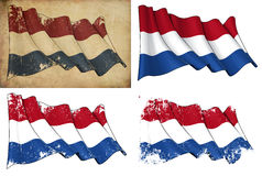 Markierungsfahne von den Niederlanden lizenzfreie abbildung