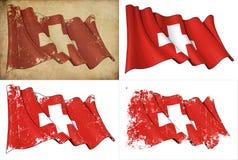 Markierungsfahne von der Schweiz lizenzfreie abbildung