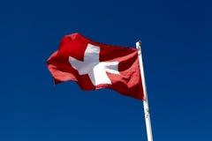 Markierungsfahne von der Schweiz Lizenzfreies Stockfoto