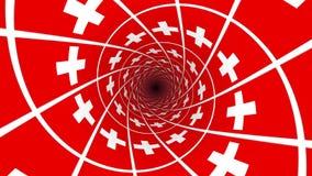Markierungsfahne von der Schweiz stock video footage