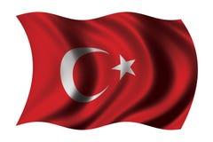 Markierungsfahne von der Türkei Lizenzfreie Stockfotos