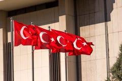 Markierungsfahne von der Türkei Lizenzfreies Stockbild