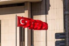 Markierungsfahne von der Türkei Stockbild