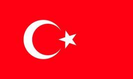 Markierungsfahne von der Türkei Genaue Maße, Elementanteile und Col. Lizenzfreies Stockbild