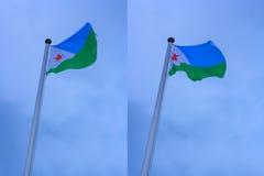 Markierungsfahne von Djibouti Stockbild