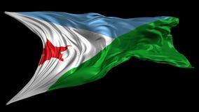 Markierungsfahne von Djibouti stock footage