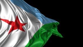 Markierungsfahne von Djibouti lizenzfreie abbildung